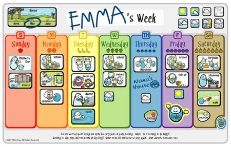 Calendario Bimbi.Calendari Per Bambini In Inglese E Anche Con Gli Stickers