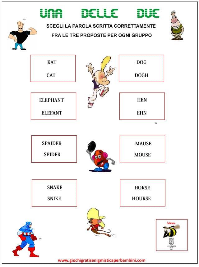 Enigmistica per bambini in inglese il dell