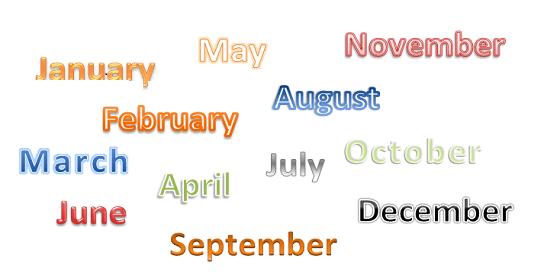 Esercizi di inglese on line i giorni della settimana e i for Complemento d arredo in inglese