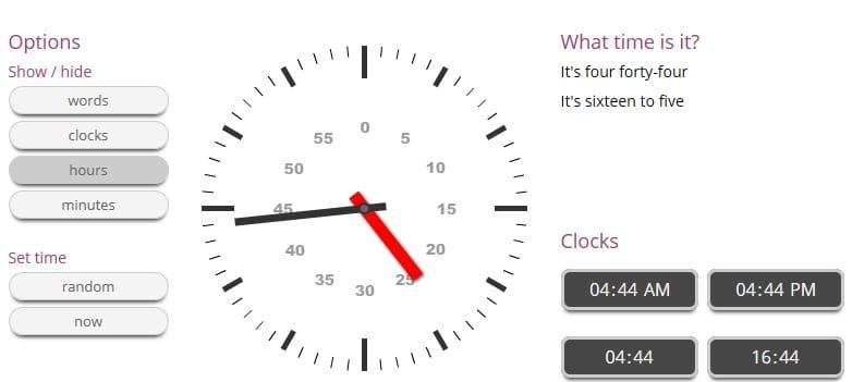 orologio inglese per bambini