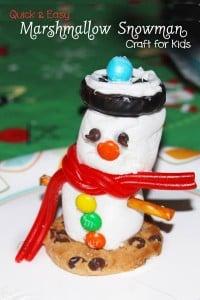 Marshmallow-Snowman-Kids-Craft