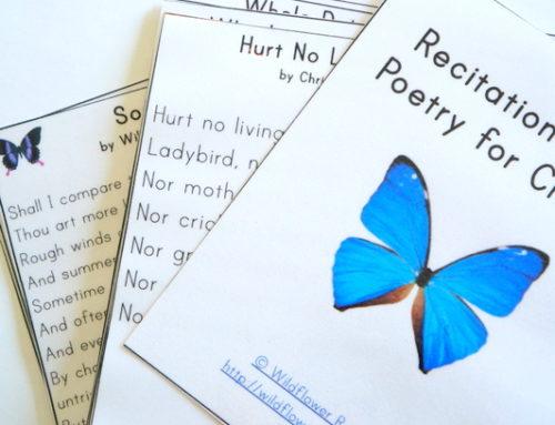 Carte delle poesie per bambini