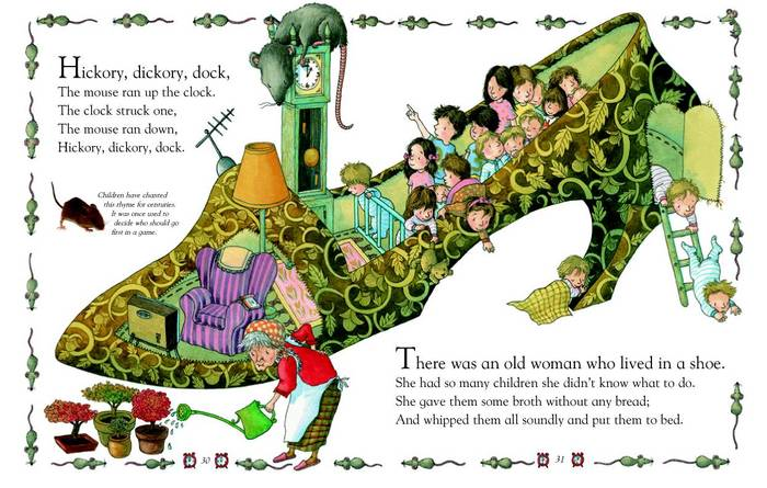 Nursery Rhyme Old Lady Who Lived In A Shoe