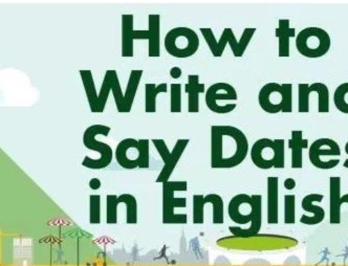 Come dire le date in inglese?