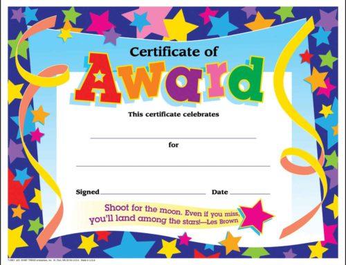 Diplomi per bambini in inglese