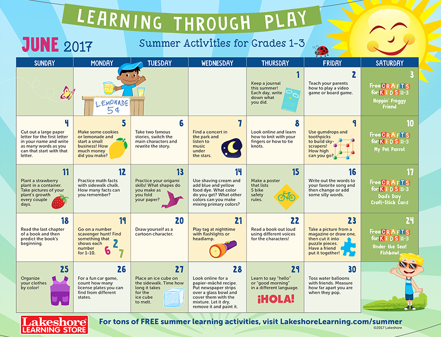 June Calendar Writing Prompts : Inglese per bambini networked s by ninua