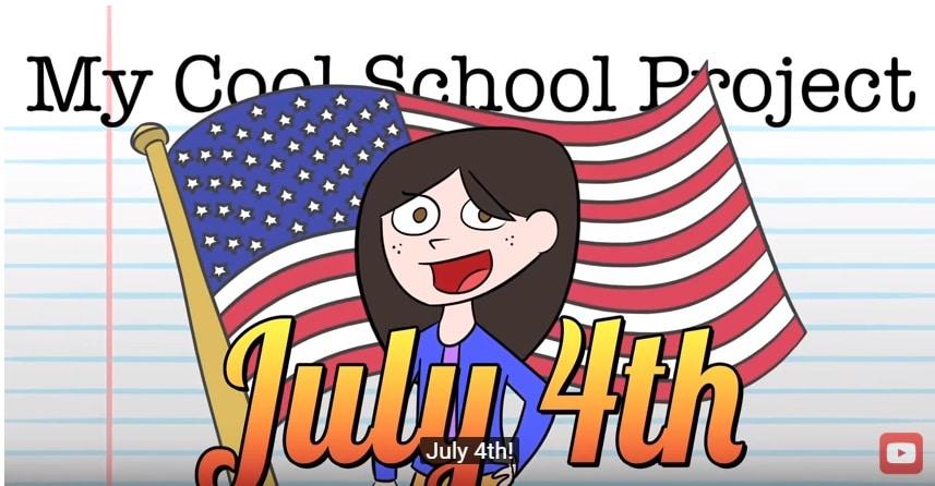 Cartone animato sul significato del luglio il