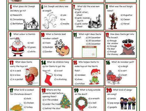 Christmas Quiz da stampare