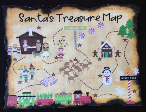 Mappa del tesoro di Babbo Natale