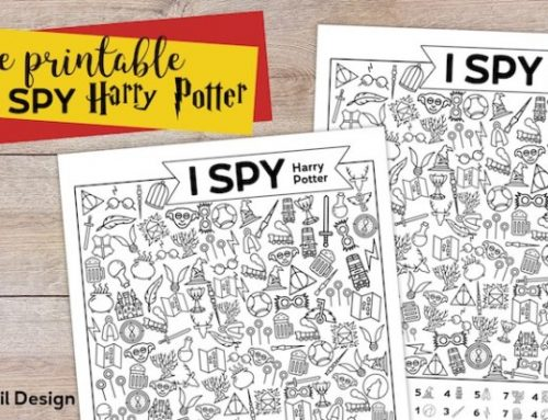 I spy a tema Harry Potter da stampare