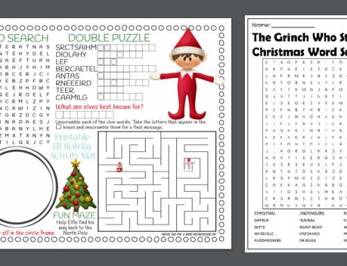 Giochi in inglese da stampare a tema Natale