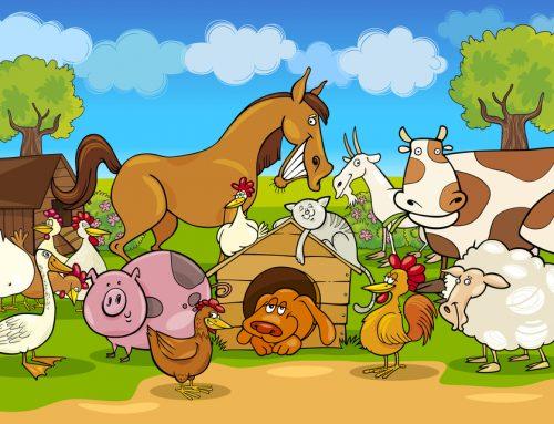 Animali della fattoria in inglese