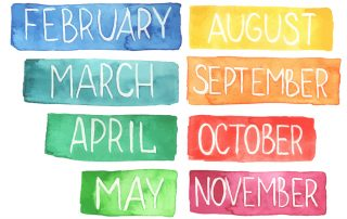 mesi anno in inglese